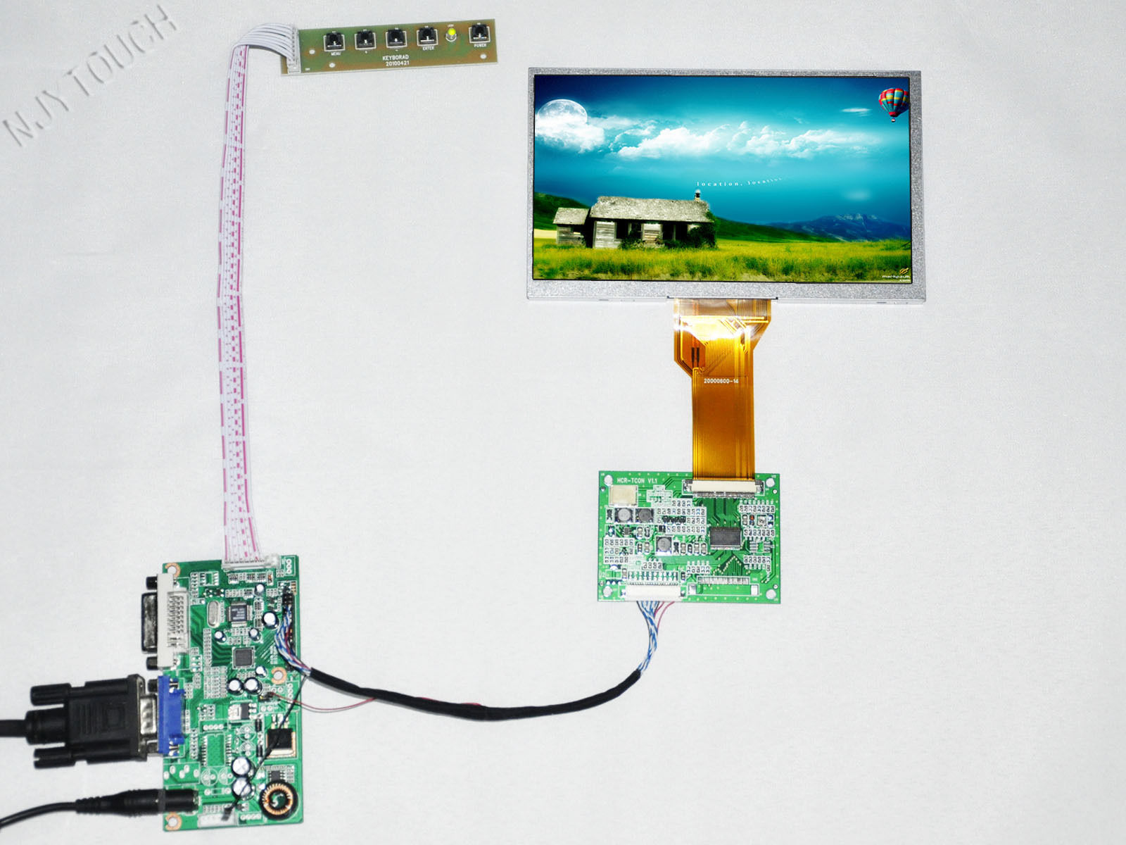7 inch TFT INNOLUX AT070TN92 50 Pin LCD Screen Panel DVI Controller TCON Board LVDS