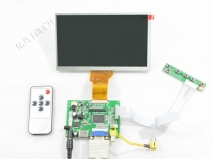 7 inch Digital TFT INNOLUX AT070TN92 50 Pin LCD Screen Panel (800x480)+HDMI+VGA+2AV+Remote LCD Controller Board