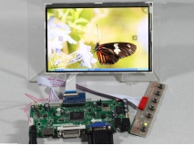 7 inch HSD070PWW1-C IPS LCD Panel work for rasberry Pi+HDMI+DVI+VGA Driver Board