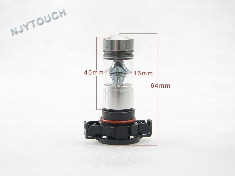 Auto Car LED Bulb PSX24W Fog Light SHARP 100W Red